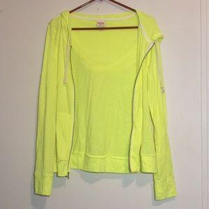 Mossimo Light Weight Jacket Neon Yellow